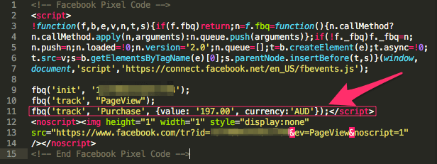 Pixel con valore di conversione statico