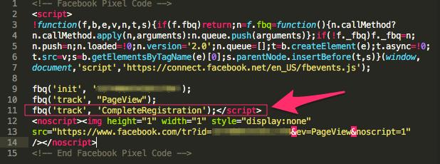 Codice pixel con evento standard per monitorare le conversioni
