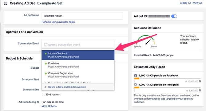 Ottimizzare ads Facebook per conversioni